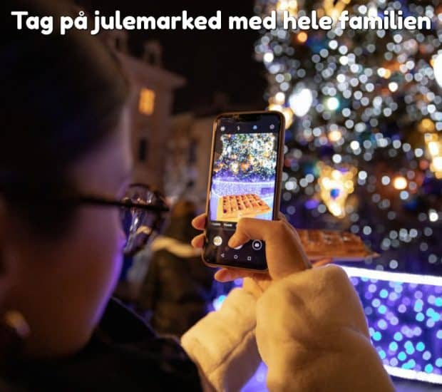 Tag på julemarked med hele familien